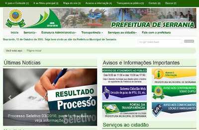 Site da Prefeitura de Serrania
